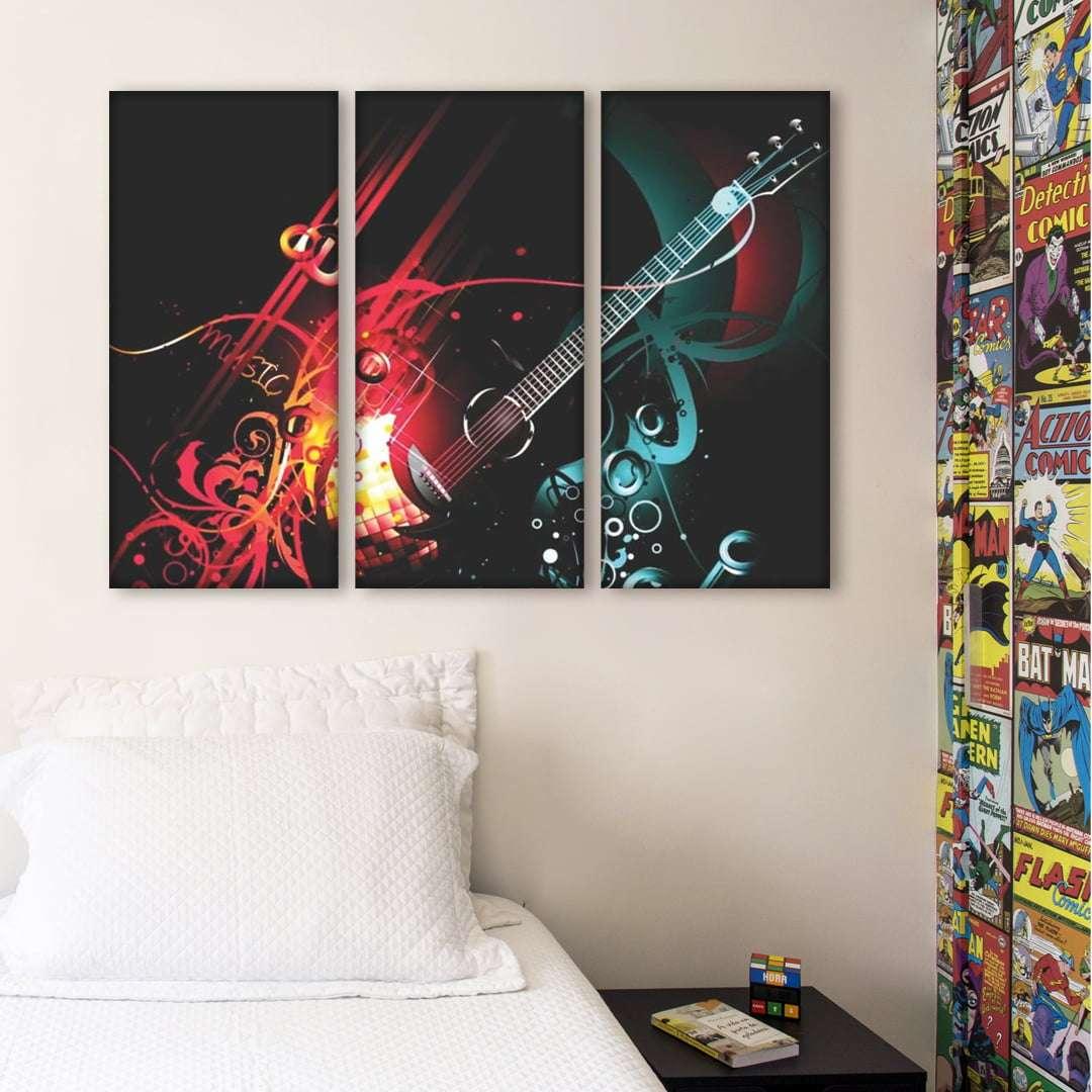 Quadro Guitarra Violão cores