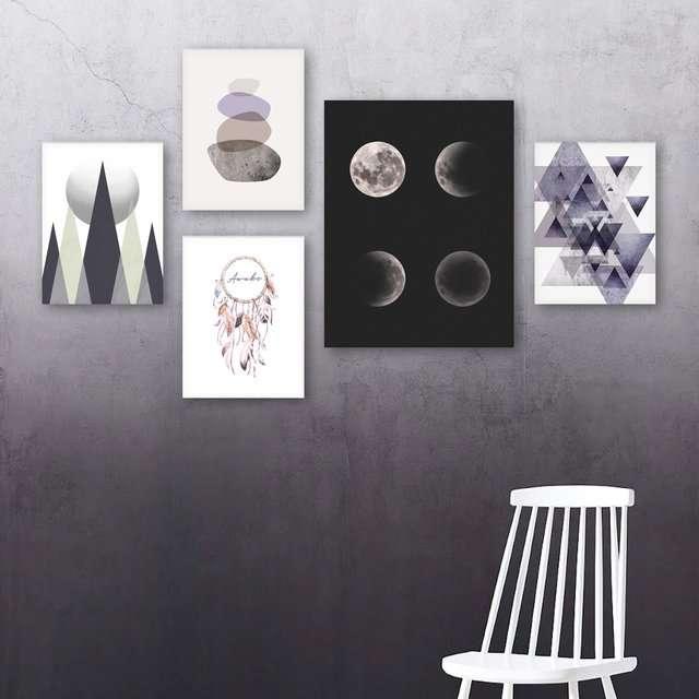 Quadros Escandinavos Lunas Decorativo