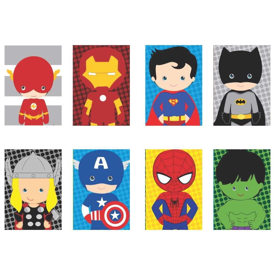 Quadros super herois infantil