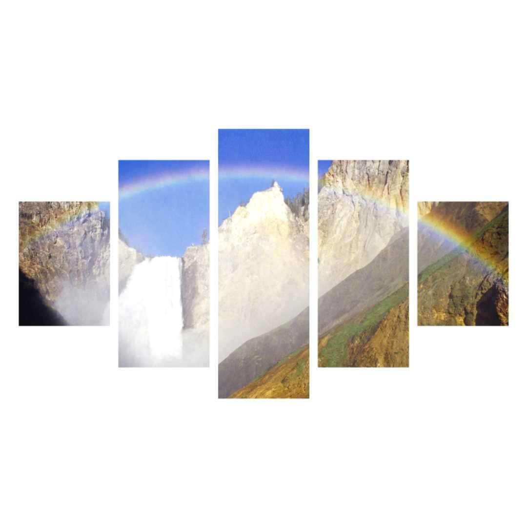 Quadro arco iris paisagem decorativa