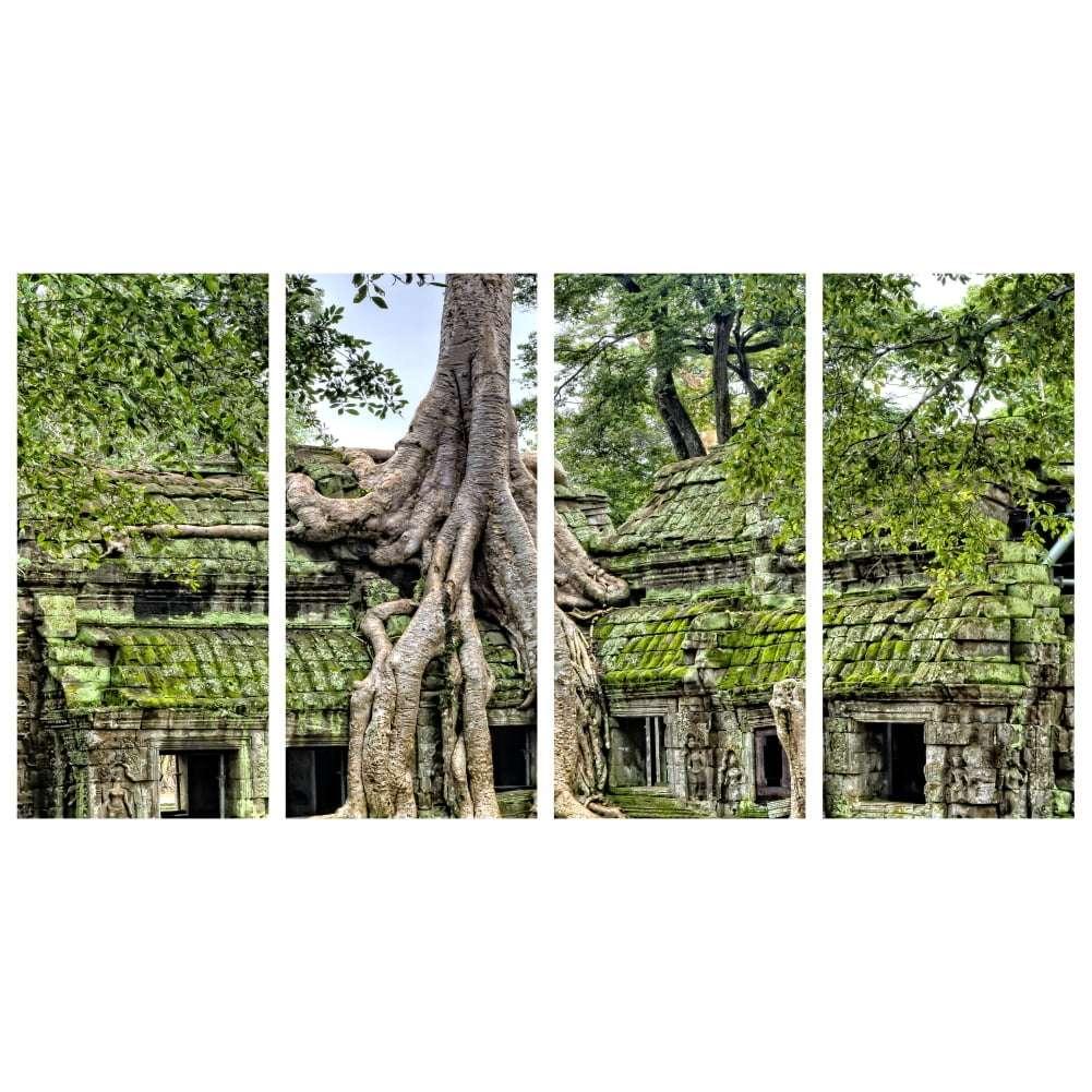 Quadro arvore templo indiano para decorar