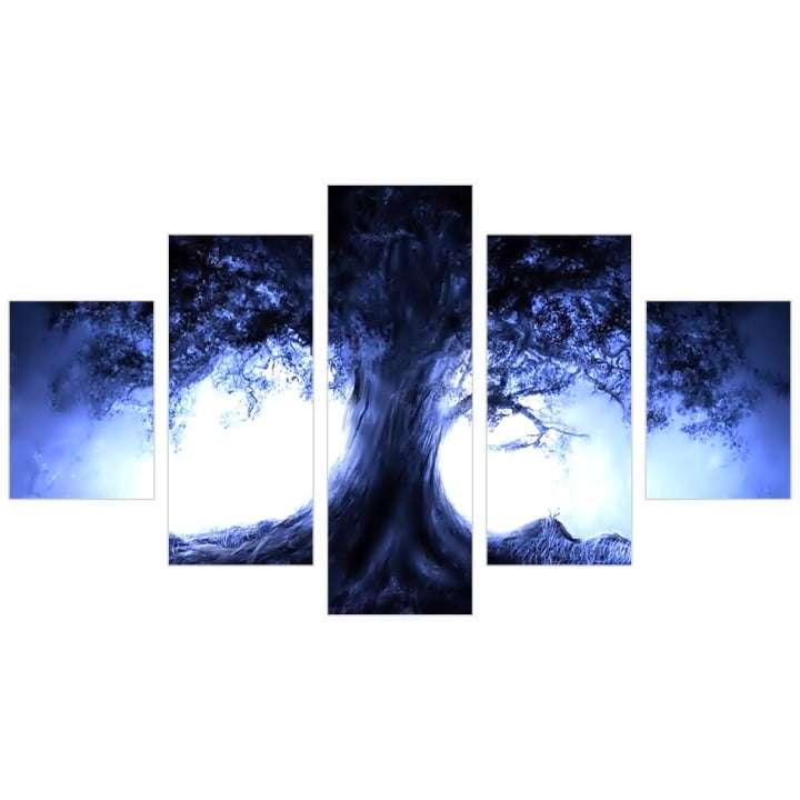 Quadro Arvore Iluminada conjunto 5 peças