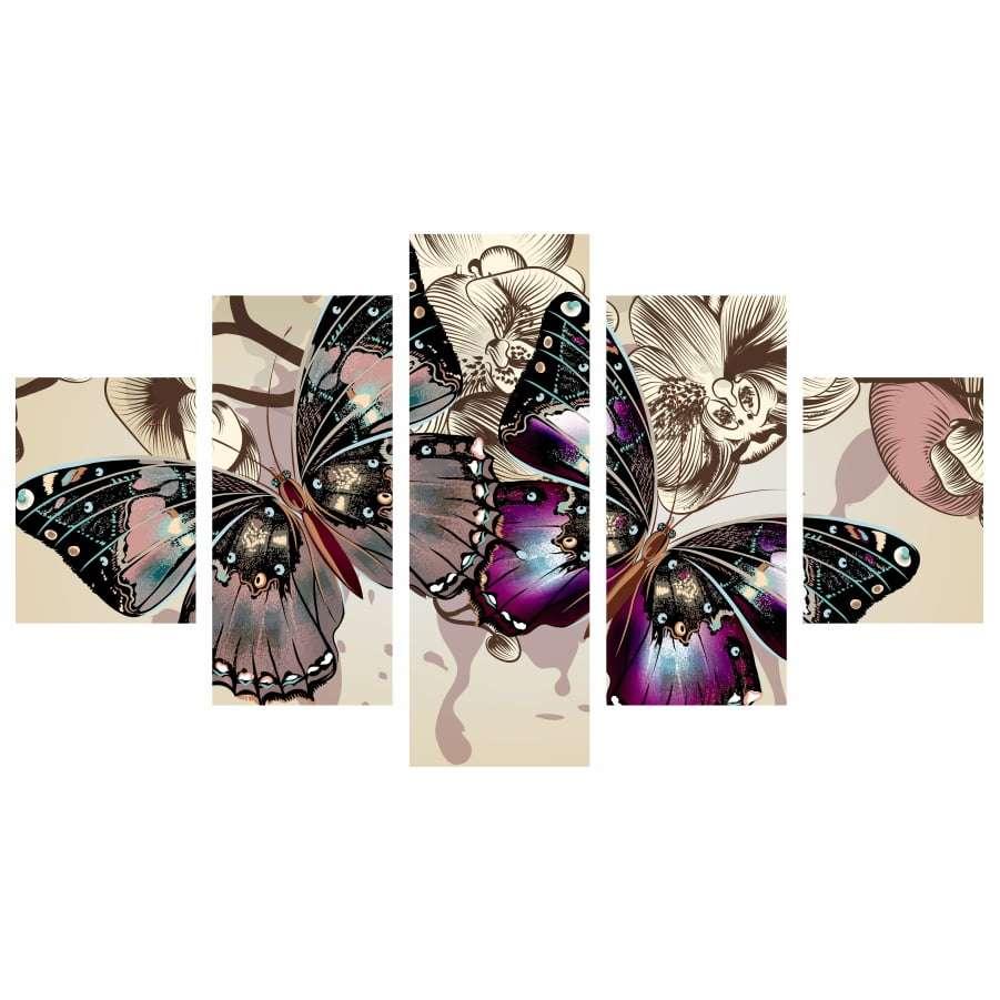 Quadro borboleta para decoraçao