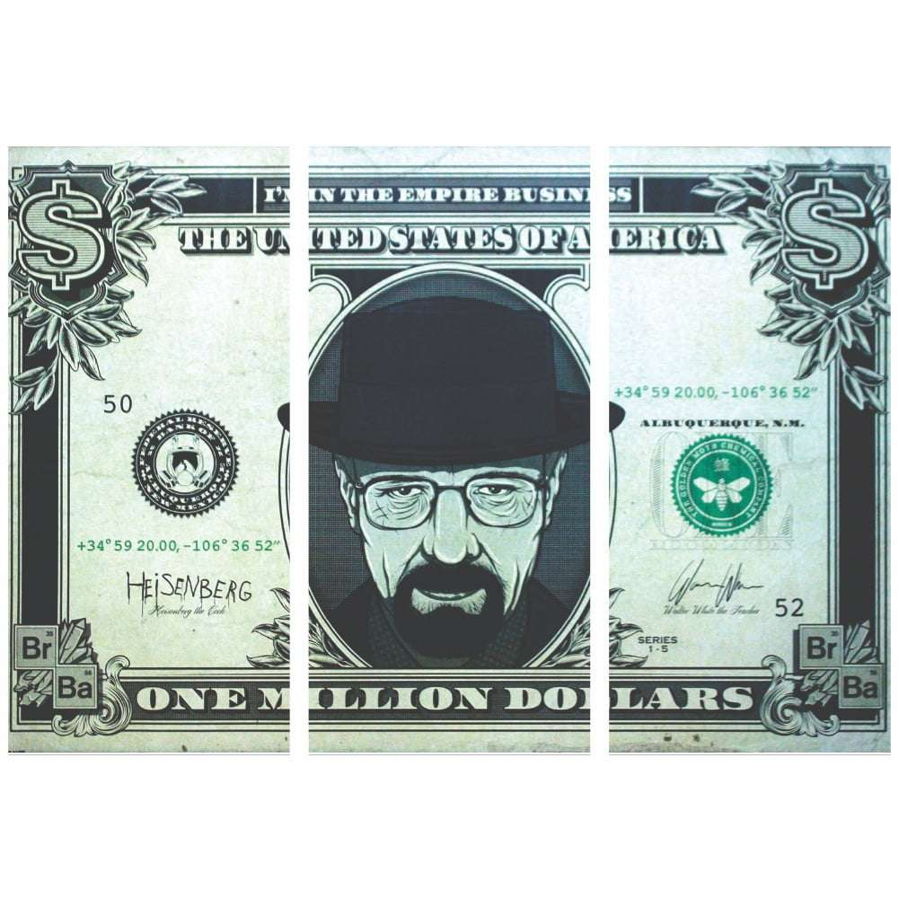 Quadro breaking bad dolar decorativo