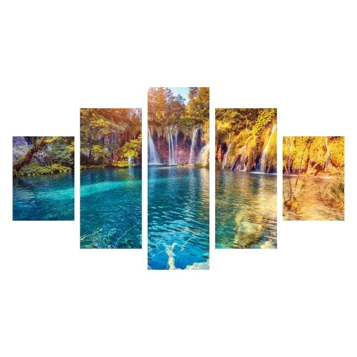 Quadro cachoeira paisagem para decoraçao