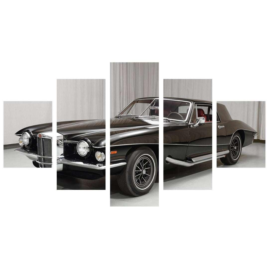 Quadro carro classico black hawk para decorar