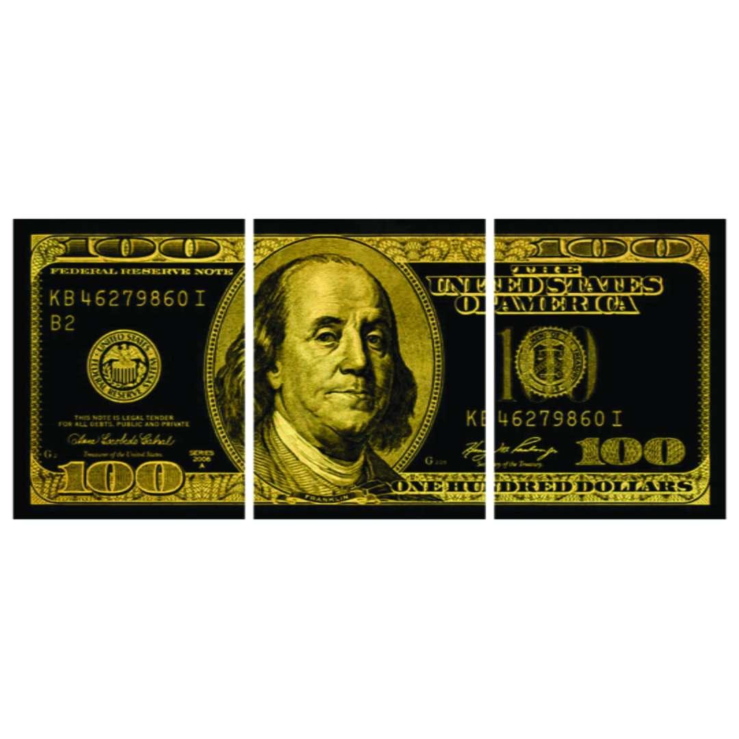 Quadro Nota 100 Dolares Decorativo