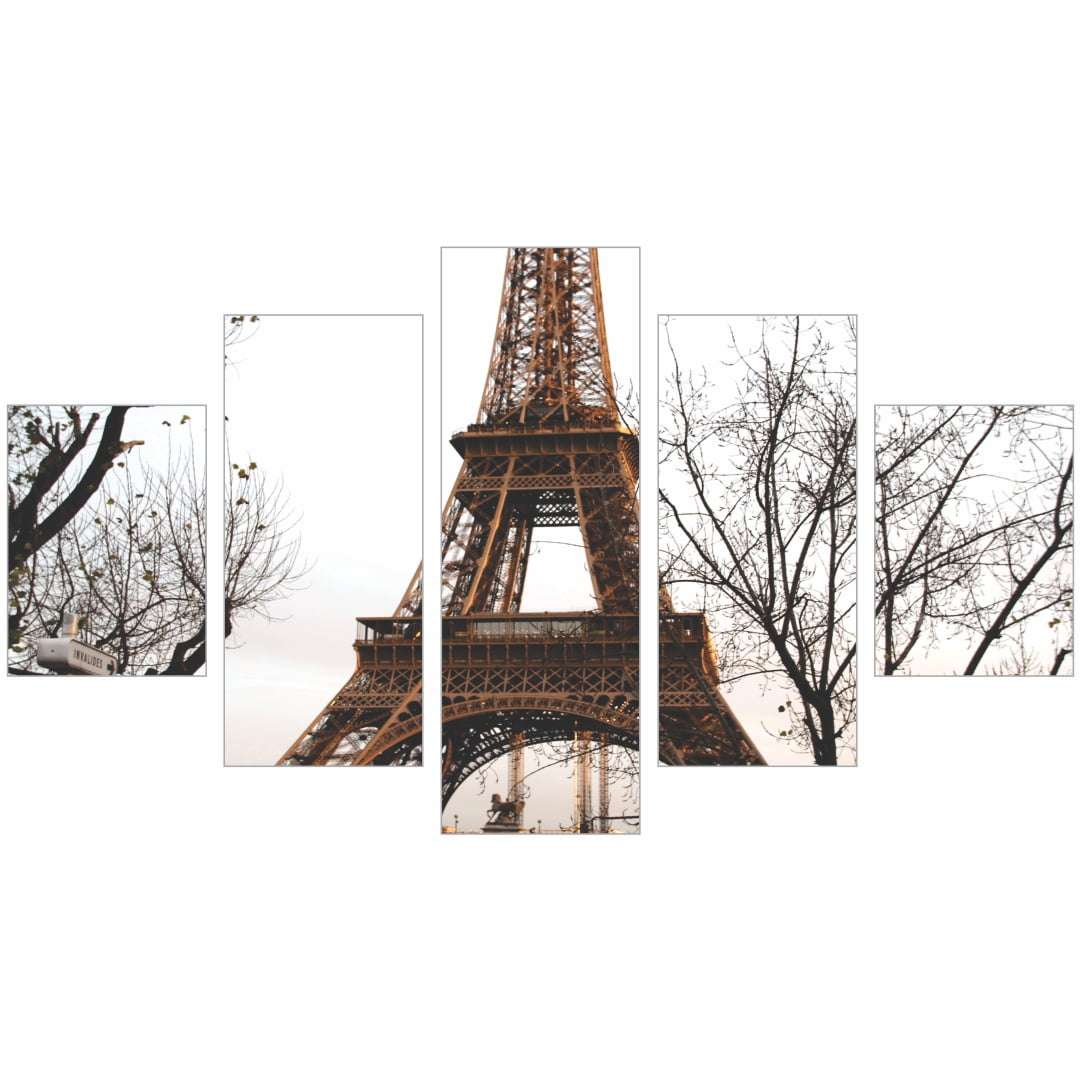 Quadro Torre Eiffel Galhos Secos Decorativo