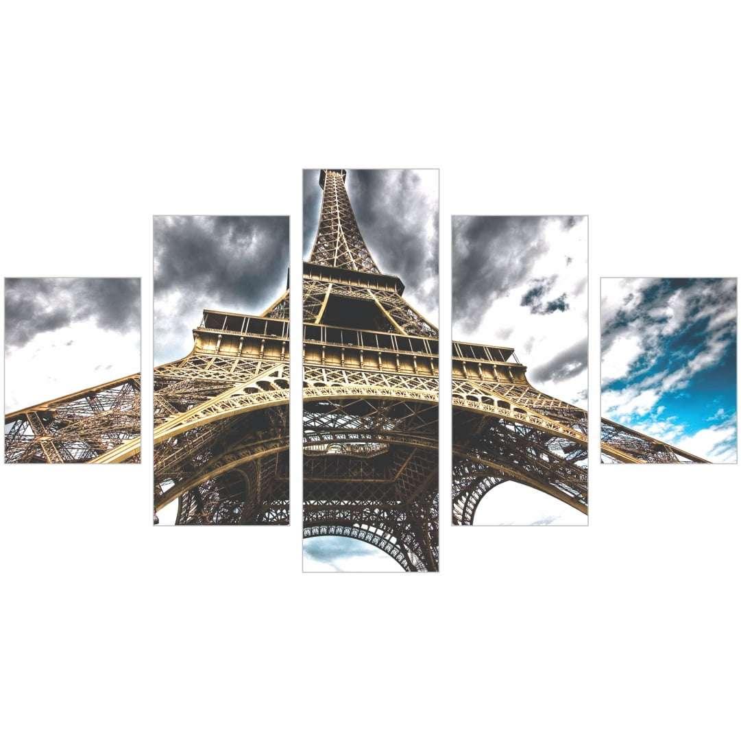 Quadro Torre Eiffel Nuvens decorativo