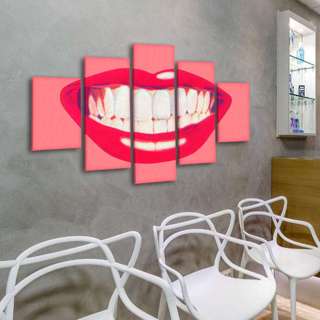 Quadro dentista boca decorativa