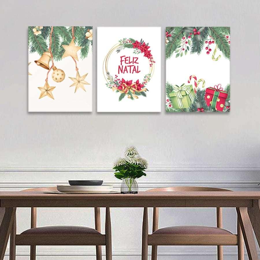 Quadro feliz natal comemorativo para decorar
