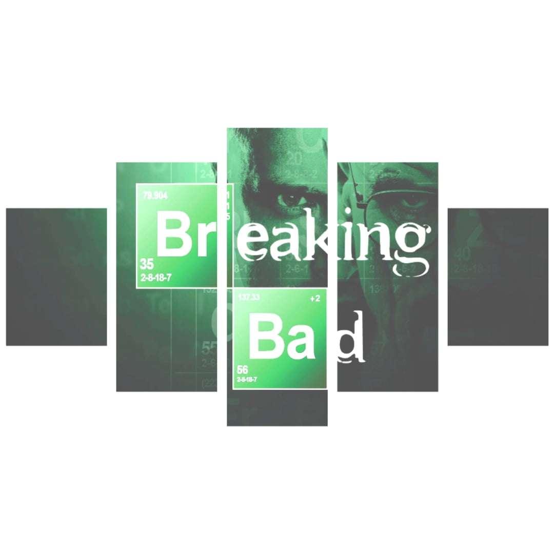 uadro decorativo Breaking Bad Logo 5 peças
