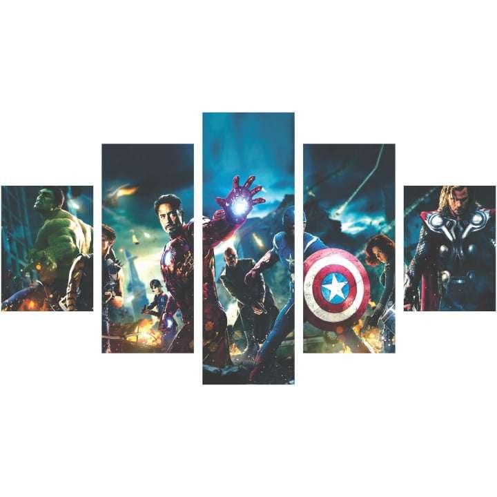 Quadro vingadores herois marvel