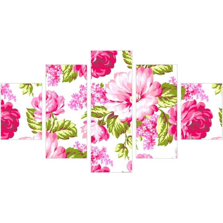 Quadro Para Decoraçao De Interiores Flores Coloridas