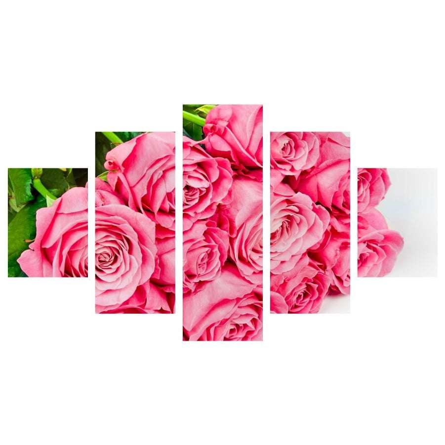 Quadro flores rosas para decoraçao