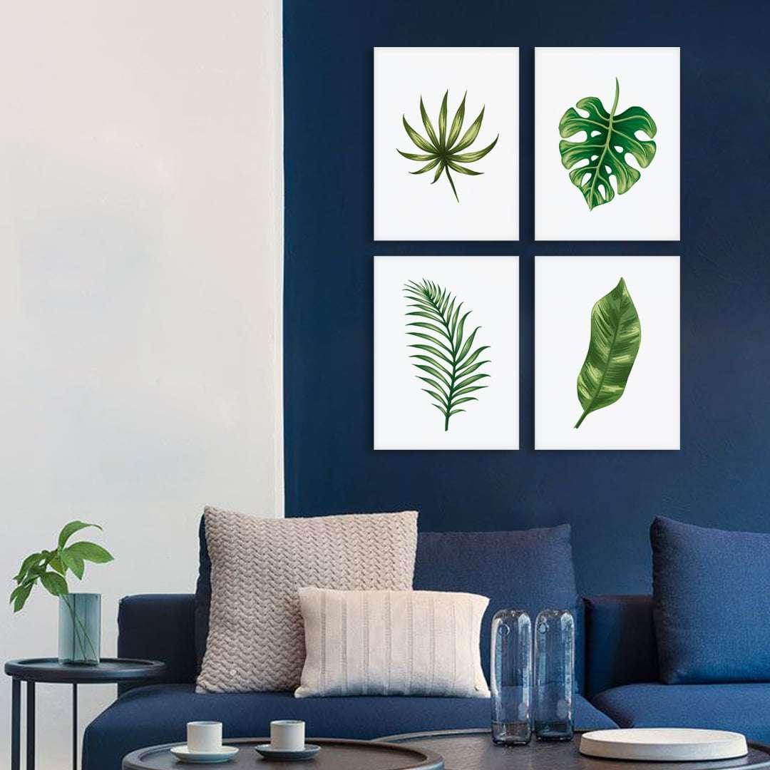 Quadro Folhas Verdes para Decoraçao