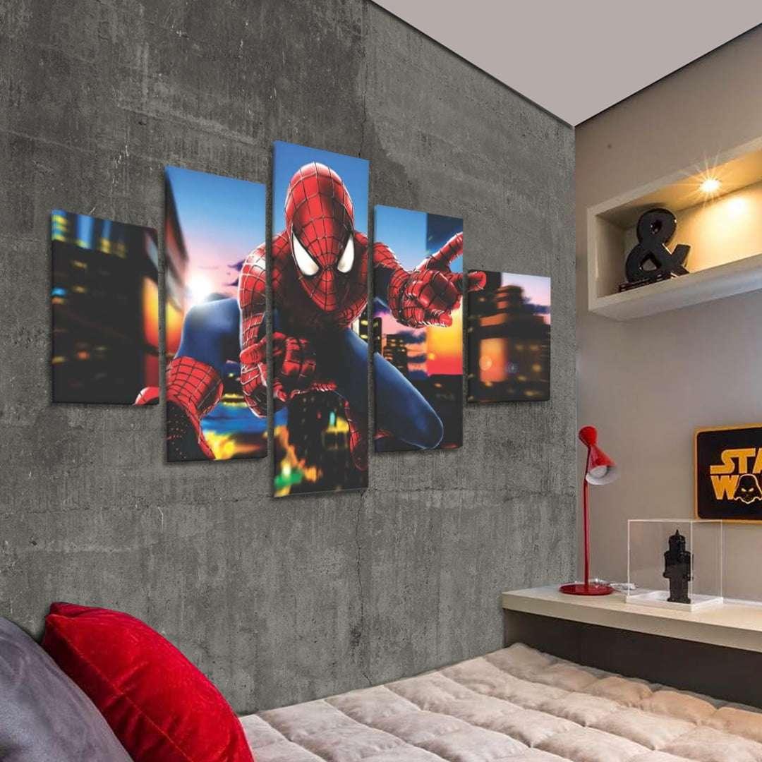 Quadro homem aranha decorativo