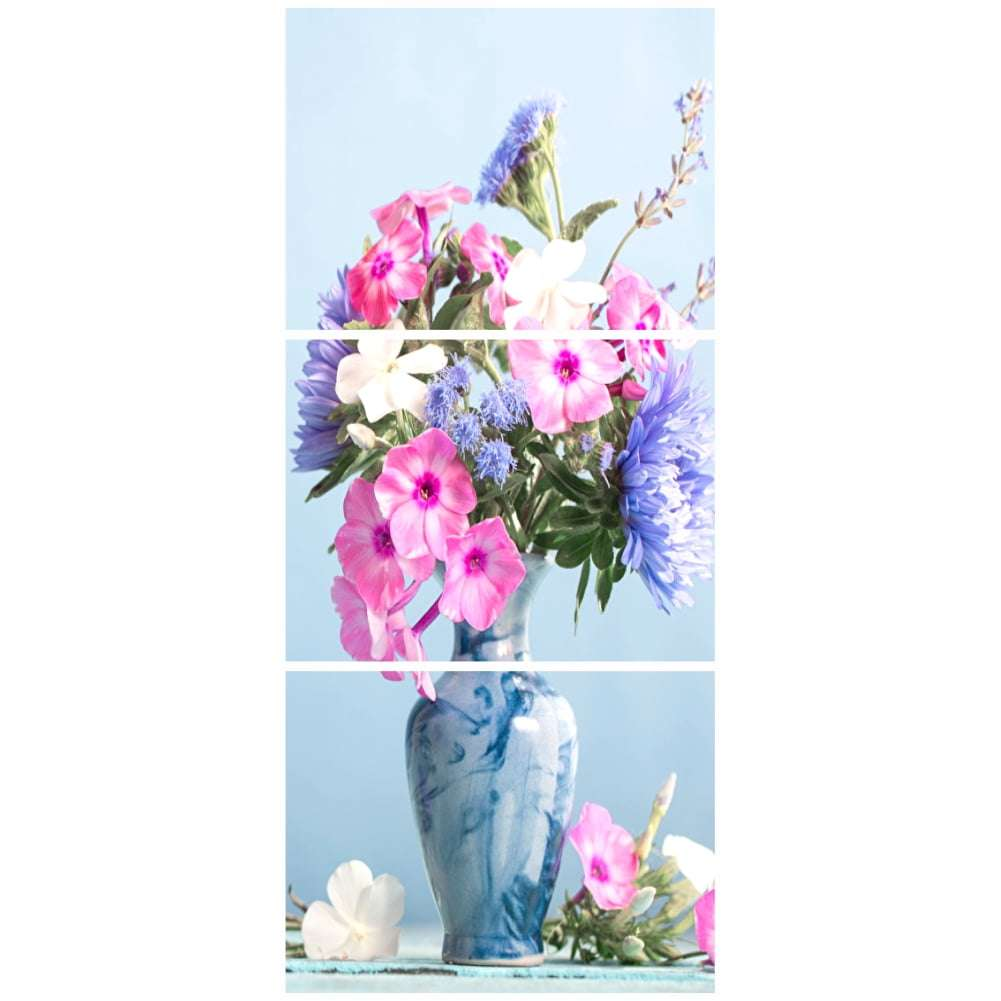 Quadro jarro de flores decorativo