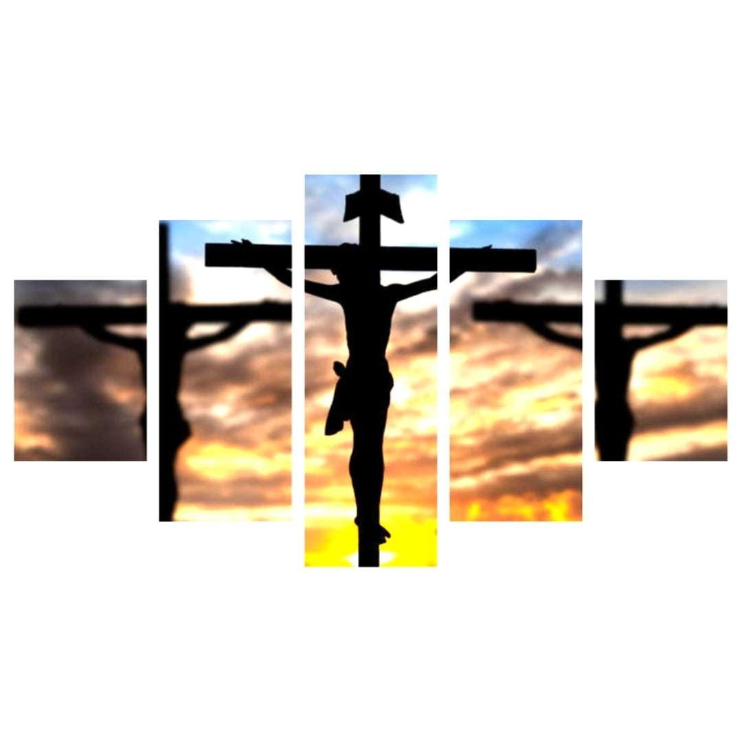Quadro jesus cristo crucificado decorativo