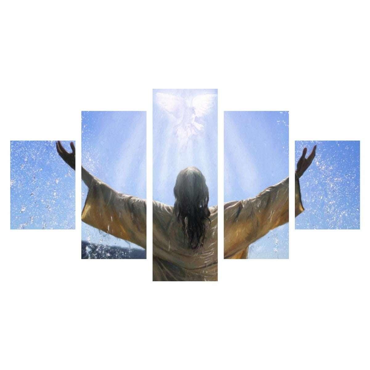 Quadro Jesus Cristo e a Pomba da Paz Decorativo
