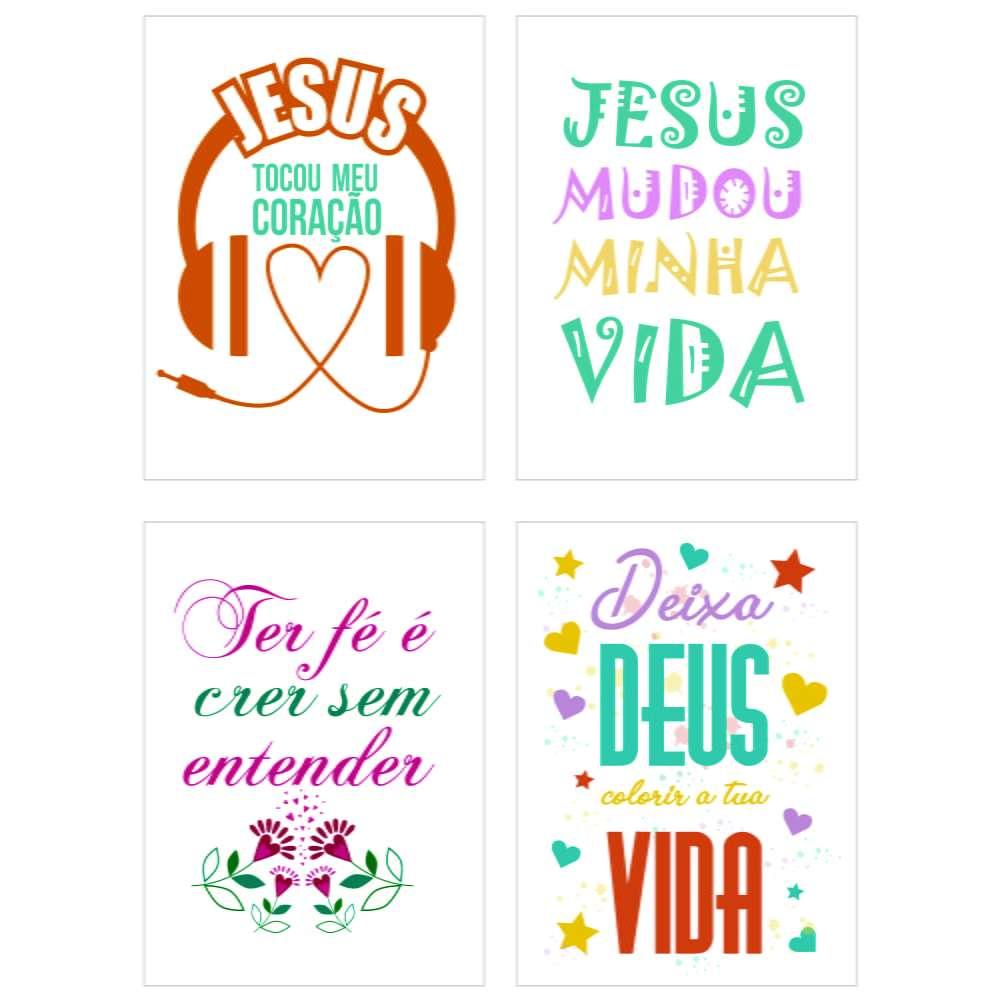 Quadro kit religioso evangelico deus vida decorativo