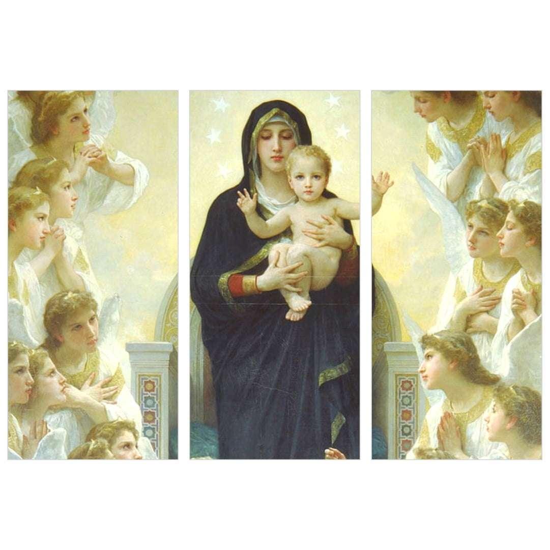 Quadro maria menino jesus igreja catolica decorativo
