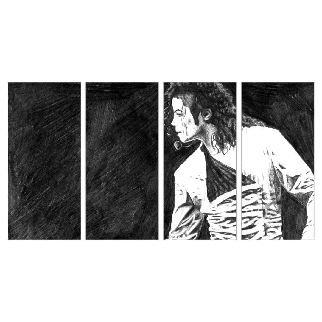 Quadro Michael Jackson anos 90 musica decorativo