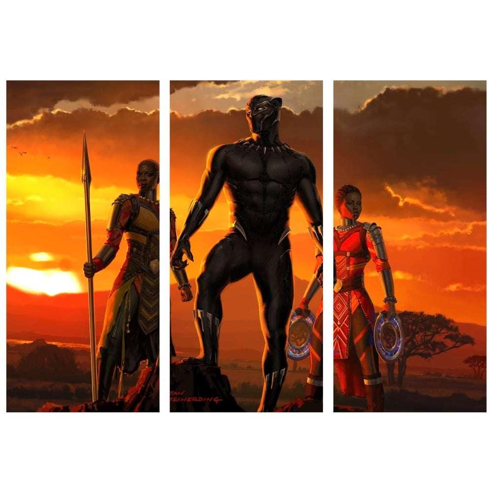 Quadro pantera negra Wakanda marvel herois para decorar