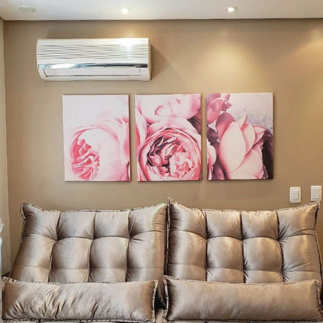 Quadro peonias rosas decorativo