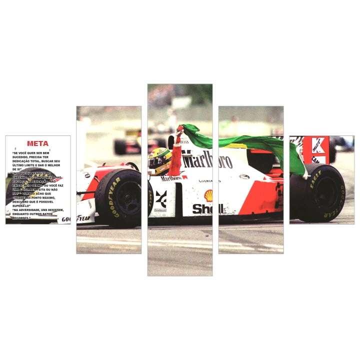 Quadro Ayrton Senna Bandeira do Brasil