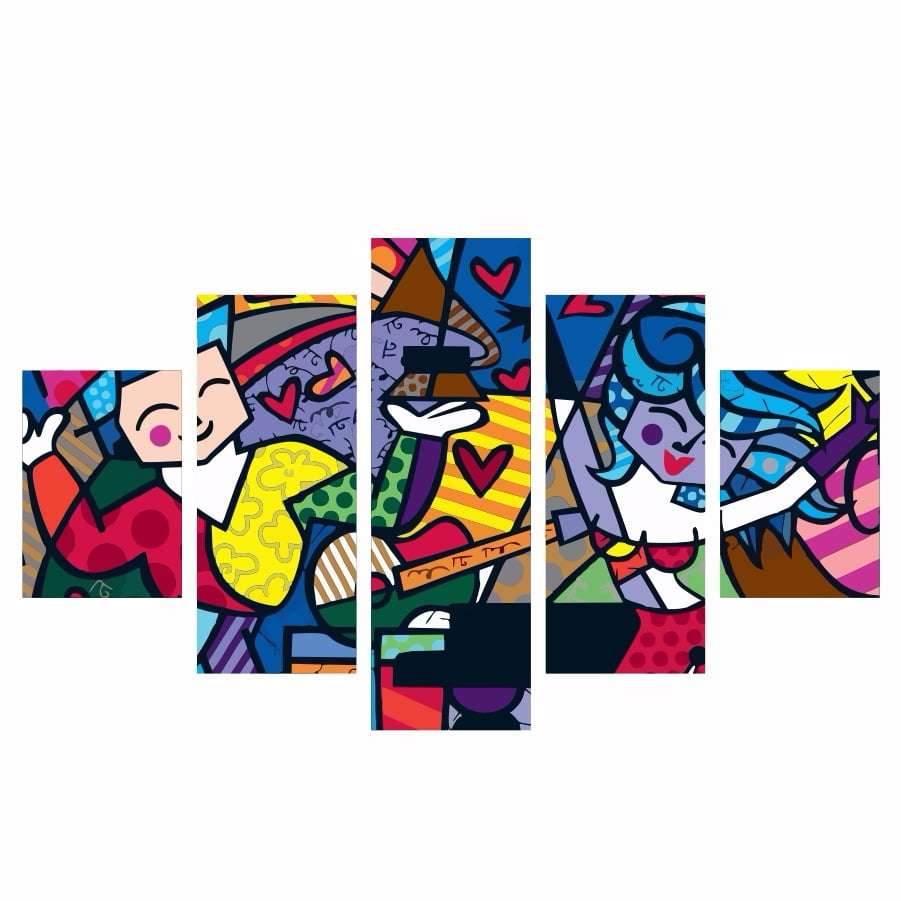 Quadro Romero Britto Pintura Decorativa