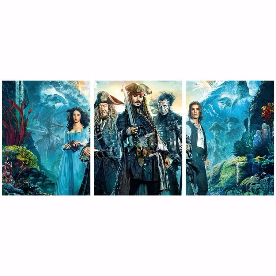 Quadro Piratas Do Caribe 5 Decorativo