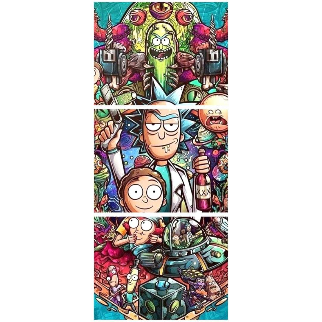 Quadro rick and morty personagens serie decorativo