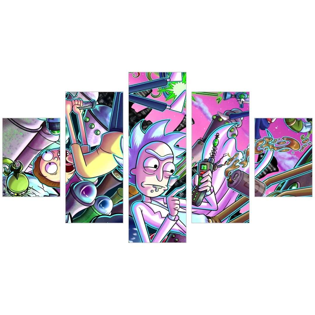 Quadro rick and morty serie desenho decorativo