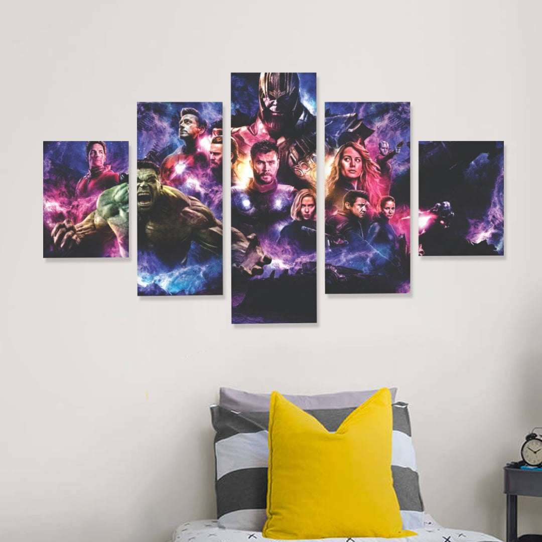 Quadro vingadores ultimato decorativo