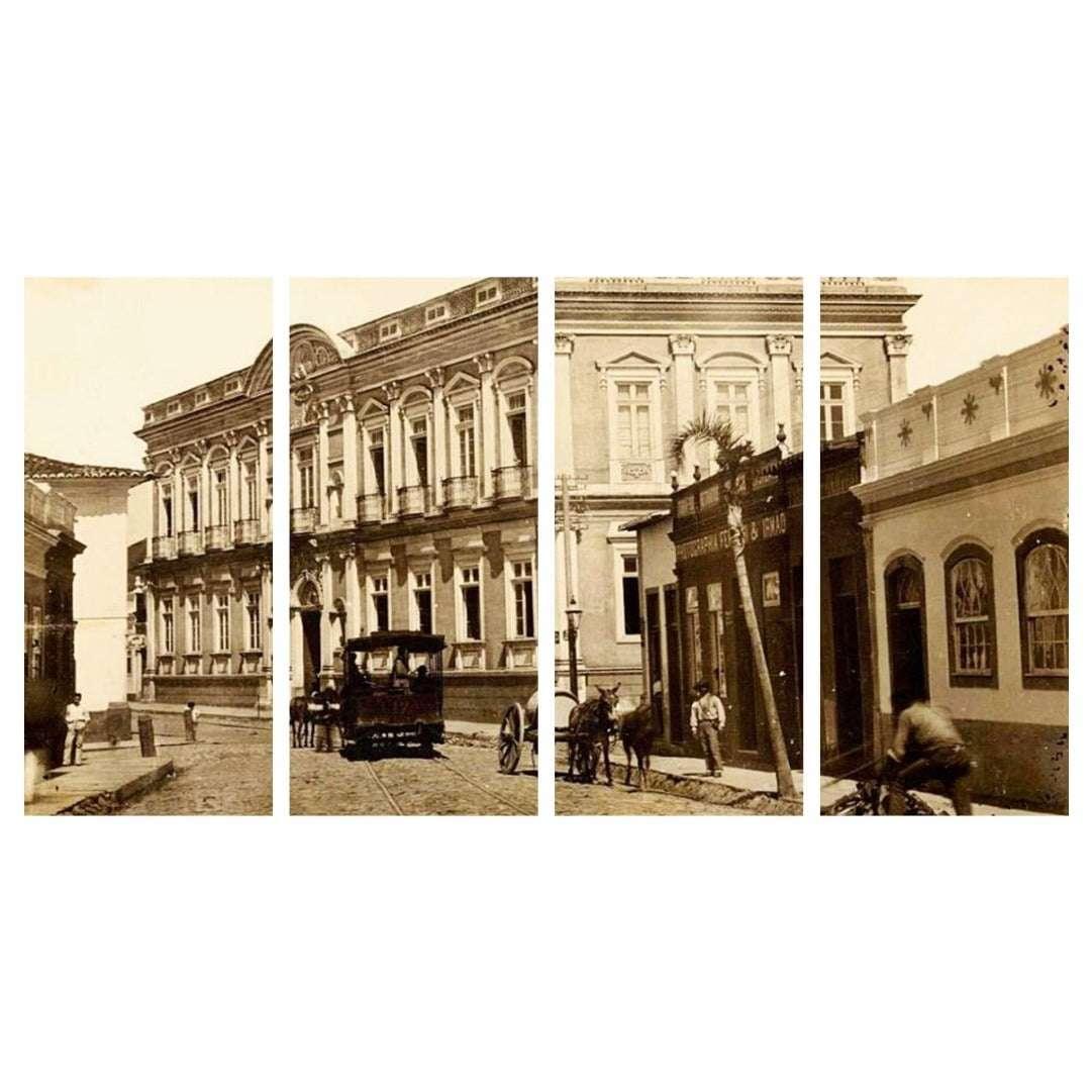 Quadro Porto Alegre em 1880 decorativo
