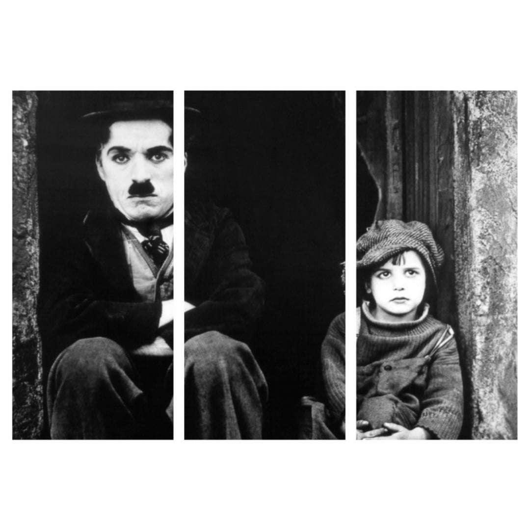 Quadro Charlie Chaplin filme o garoto