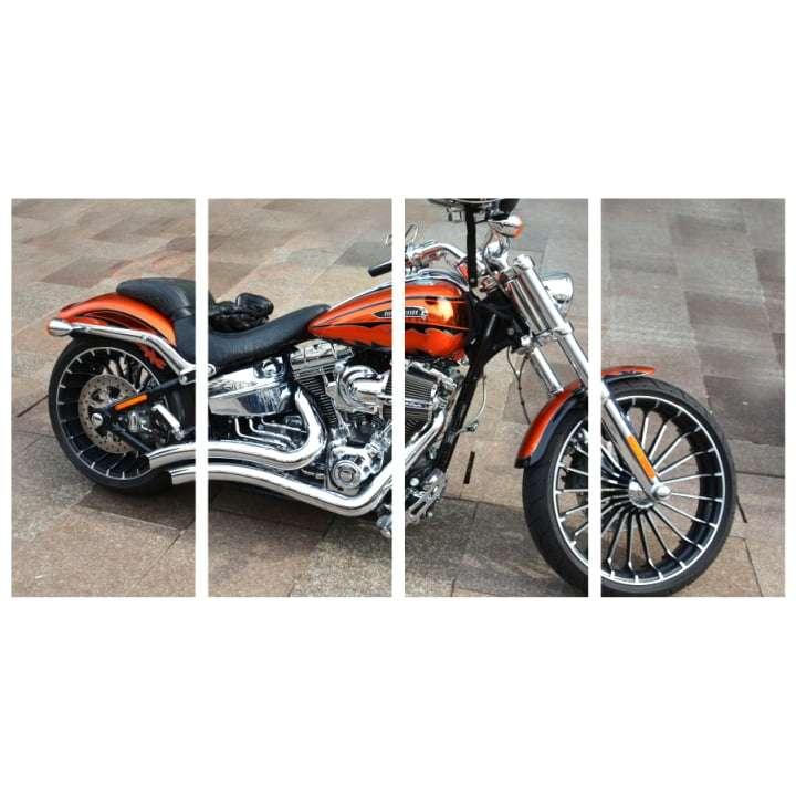 Quadro moto harley davidson decorativa