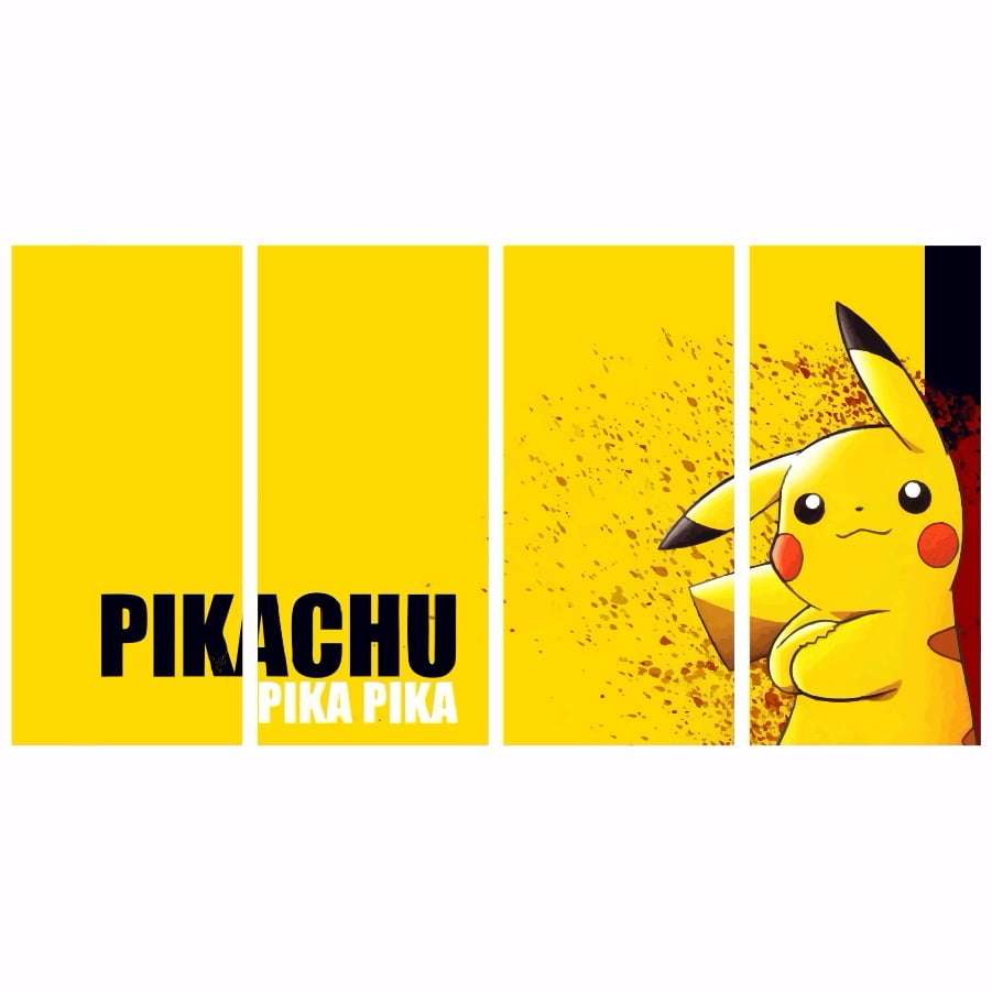 Quadro Pokemon Pikachu Decorativo