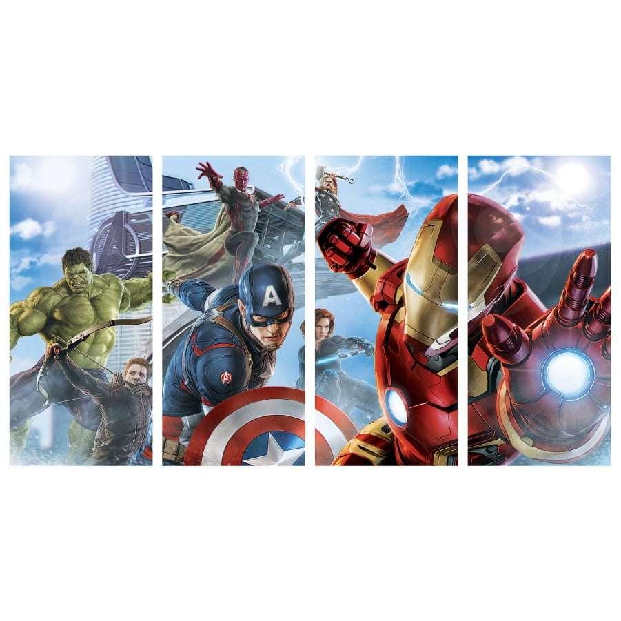 Quadro Vingadores Super Herois Marvel