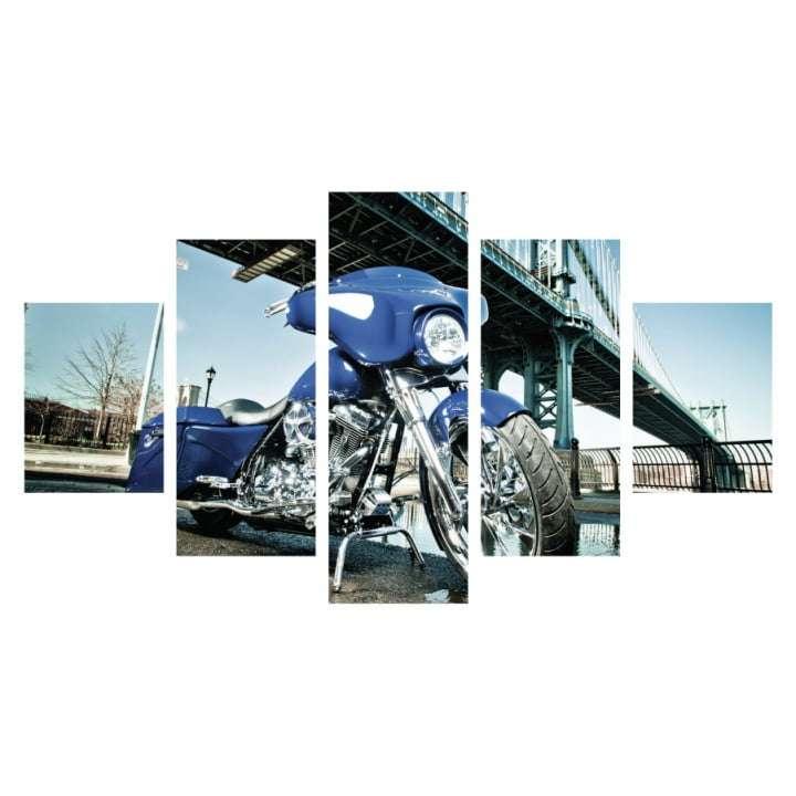 Quadro Harley Davidson Azul para Decorar