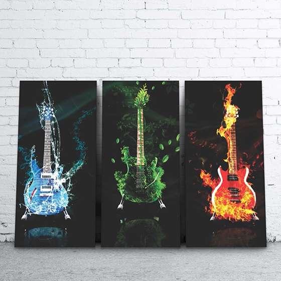 Quadro Guitarra Musica Banda