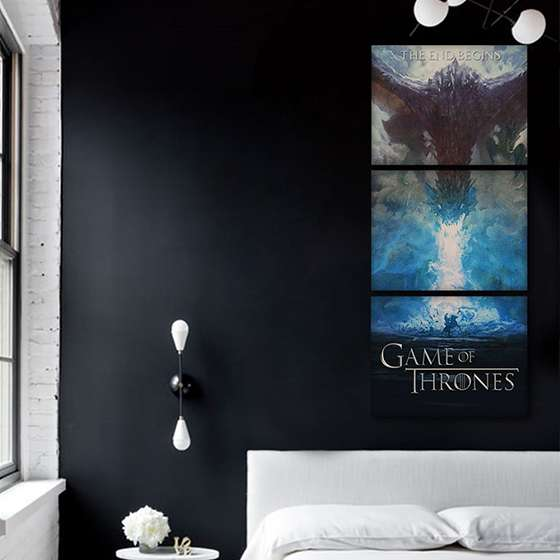 Quadro game of thrones poster da serie