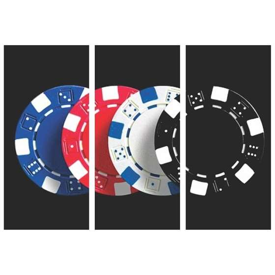Quadro fichas de poker decorativas