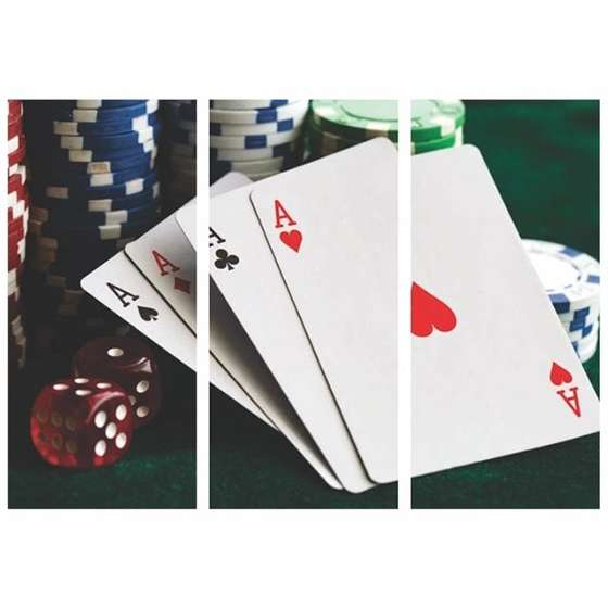 Quadro poker cartas as para decorar