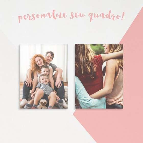 Quadro para personalizar com fotos de família e amigos conjunto de 2 peças