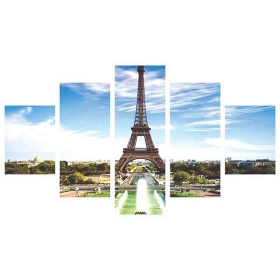 Quadro Torre Eiffel França 5 peças