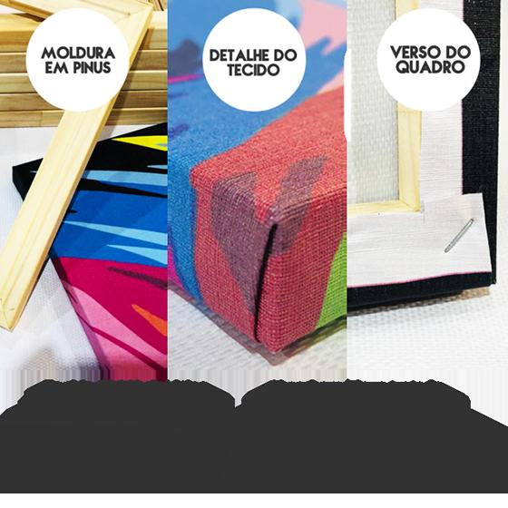 Quadro Personalizado com sua foto vertical em 3 peças