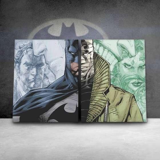 Quadro Batman VS Hush HQ 2 peças