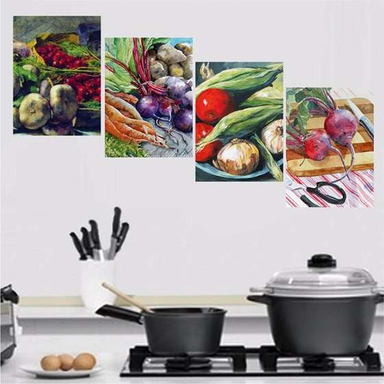 Quadro Comidas Saladas Para Decorar Sua Cozinha